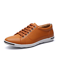 baratos Sapatos Masculinos-Homens Fashion Boots Microfibra Primavera / Outono Conforto / Botas da Moda Tênis Amarelo / Vermelho / Azul / Casamento / Festas & Noite