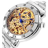 Dámské mechanické hodinky Hodinky s lebkou Módní hodinky Automatické natahování Voděodolné Slitina Kapela Stříbro Růžová