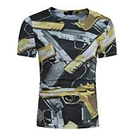 Rund hals Herre Bomuld, Trykt mønster T-shirt