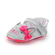 cheap Baby Shoes-Children's Baby Shoes Fabric Summer Fall First Walkers Loafers & Slip-Ons Bowknot Appliques Polka Dot for Casual Party & Evening Dress