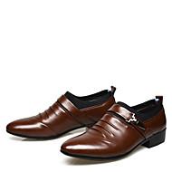 baratos Sapatos Masculinos-Homens Sapatos formais Couro Ecológico Primavera / Outono Negócio Botas Caminhada Preto / Marron / Casamento / Festas & Noite