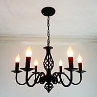 6-Light Candle-style Chandelier Ambient Light Others Metal Candle Style 110-120V / 220-240V Bulb Not Included