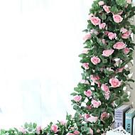 baratos -1 Ramo Seda Rosas Guirlandas & Flor de Parede Flores artificiais