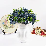 billige Kunstige blomster-1 Deler 1 Gren Styropor Plastikk Planter Bordblomst Kunstige blomster