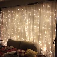 olcso -3mx2m 240-es fehér / meleg fehér / többszínű fény romantikus karácsonyi esküvői kültéri dekoráció függöny string fény