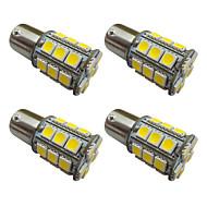 4 stuks 1156 ba15s / bay15d 1157 3w led lampje 27 smd 5050 achterlicht / rem / draai / stoplicht dc 12v wit / warm wit