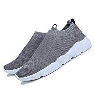Men's Athletic Shoes Tulle Summer Fall Tennis Low Heel Black Gray Under 1in