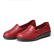Women's Loafers & Slip-Ons Club Shoes Fabric Spring Casual Flat Heel Ruby Coffee Flat