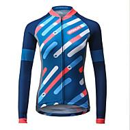 ieftine MYSENLAN®-Mysenlan Pentru femei Manșon Lung Jerseu Cycling Bicicletă Jerseu, Uscare rapidă, Respirabil Poliester