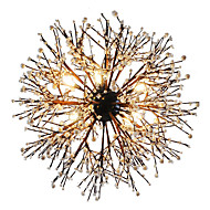 Modern Chandeliers Firework led Vintage Wrought Iron With 8 Lights Chandelier Island Pendant Lighting Living Room Bedroom Dining Room Ceiling Light