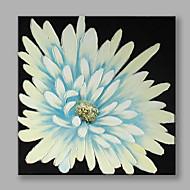 Χαμηλού Κόστους Paintings-Ζωγραφισμένα στο χέρι Άνθινο/Βοτανικό Τετράγωνο, Λουλούδι Μοντέρνο/Σύγχρονο Καμβάς Hang-ζωγραφισμένα ελαιογραφία Αρχική Διακόσμηση