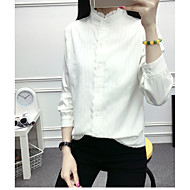 Dámské Jednobarevné Běžné/Denní Jednoduché Košile Bavlna Tričkový Tříčtvrteční rukáv