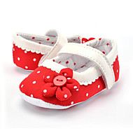 cheap Baby Shoes-Children's Baby Shoes Fabric Summer Fall First Walkers Loafers & Slip-Ons Polka Dot Flower for Casual Party & Evening Dress Red Pink