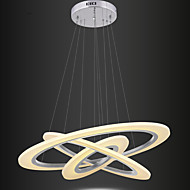 cheap Ceiling Lights-Modern Acrylic LED Restaurant Droplight Stepless Dimming Fashionable Living Room Pendant Lamp Three Round 20cm 40cm 60cm