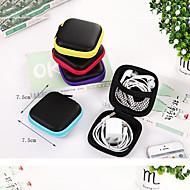 Kopfhörerhalter / Cable Winder Reisekoffersystem Wasserdicht Tragbar Staubdicht Kulturtasche für Kleider Kopfhörer USB - Kabel 7.5*7.5