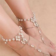 女性 アンクレット/ブレスレット 人造真珠 ファッション フラワー ジュエリー のために 日常 カジュアル 1個