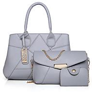 女性 バッグ 冬 PU その他皮革 3個の財布セット のために カジュアル ブルー ブラック ルビーレッド グレー パープル