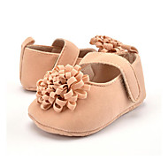 cheap Baby Shoes-Children's Baby Shoes Microfibre Winter Fall First Walkers Loafers & Slip-Ons Flower for Casual Party & Evening Dress Red Pink Almond