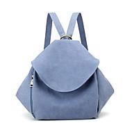 baratos Mochilas-Mulheres Bolsas Tela de pintura mochila Ziper Bege / Azul Escuro / Cinzento