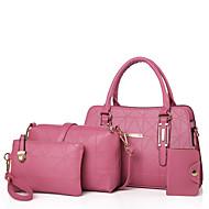 お買い得  バッグセット-女性用 バッグ PU バッグセット ジッパー のために フォーマル ブラック / ルビーレッド / ピンク