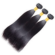 שיער אנושי שיער הודי טווה שיער אדם יקי תוספות שיער חלק 1 Jet Black