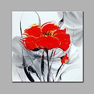 Ручная роспись Цветочные мотивы/ботаническийСовременный 1 панель Hang-роспись маслом For Украшение дома