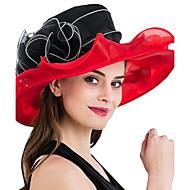 Pentru femei Peteci Primăvara/toamnă Vară Pălărie Floare Plasă din tul,Clop Floppy Palarie de soare Floral Albastru piscină Alb