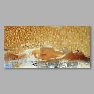 Iarts oljemaleri moderne abstrakt en kvinne ligger på siden kunst akryl lerret vegg kunst for hjem dekorasjon