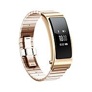 billiga Smart klocka Tillbehör-Klockarmband för Huawei B3 Huawei Sportband Rostfritt stål Handledsrem