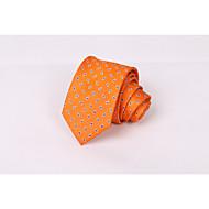 Hedvábná kravata pánská oranžová evropská a americká kešu ořechy podnikatelský oblek volný čas hedvábná kravata
