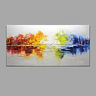 Maalattu Abstrakti Vaakasuora,Moderni Classic 1 paneeli Kanvas Hang-Painted öljymaalaus For Kodinsisustus
