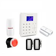 2.4g segurança de casa inteligente wifi gprs wifi gsm sistema de alarme android / ios app controle remoto voz prompt trabalho com pt wifi