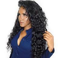 マレーシアの100%処女の人間の髪のレースの正面の閉鎖緩い波13 * 4漂白した結び目赤ちゃんの髪の自然な黒色