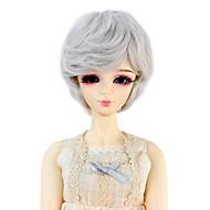Naisten Synteettiset peruukit Laineikas Hopea Doll Wig puku Peruukit