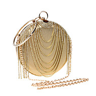 Women Bags All Seasons PU Polyester Evening Bag Rhinestone for Wedding Event/Party Formal Gold