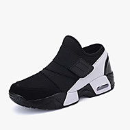 Men's Sneakers Comfort Spring Fall PU Running Shoes Casual Hook & Loop Flat Heel Black Black/White Black/Red 2in-2 3/4in