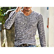 ieftine -Bărbați În V Tricou De Bază Imprimeu