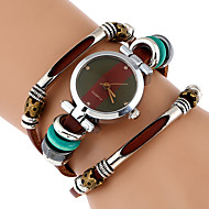 cheap 50% Off On Priority Line-Women's Bracelet Watch Wrist Watch Quartz Wrap Genuine Leather Brown Cool Imitation Diamond Analog Ladies Vintage Casual Butterfly Bohemian - Black Brown Green One Year Battery Life
