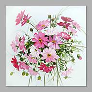 billiga Blom-/växtmålningar-Hang målad oljemålning HANDMÅLAD - Blommig / Botanisk Artistisk Duk