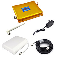Dcs 1800mhz signal booster dcs980 signal repeater mobiltelefon signal forsterker med panel antenne / pisk antenne / 15m 75ohm kabel