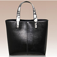 Women Bags All Seasons Cowhide Tote for Casual Outdoor Black Coffee Brown