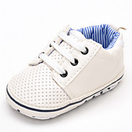 cheap Baby Shoes-Baby Shoes Leatherette Spring Fall Comfort Flats Gore for Wedding Casual Outdoor Party & Evening White