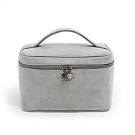 Damen Taschen Ganzjährig Nylon Kosmetik Tasche für Normal Grau