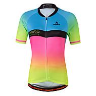 Miloto Women's Short Sleeve Cycling Jersey - Luminous Bike Jersey Spandex, Coolmax®