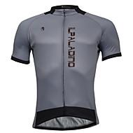 ILPALADINO Muškarci Kratkih rukava Biciklistička majica - Sive boje Bicikl Biciklistička majica, Quick dry Poliester, Coolmax®
