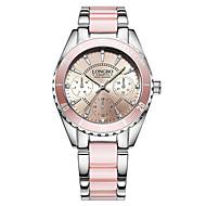 Kadın's Moda Saat Bilek Saati Bilezik Saat Benzersiz Yaratıcı İzle Gündelik Saatler Çince Quartz Su Resisdansı Paslanmaz Çelik Bant