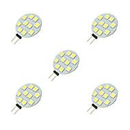 tanie Więcej Kupujesz, Więcej Oszczędzasz-5pcs 2W 160 lm G4 Żarówki LED bi-pin 10 Diody lED SMD 5050 Biały DC 12V
