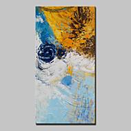 baratos -Pintados à mão Abstrato Vertical,Abstracto Modern 1 Painel Tela Pintura a Óleo For Decoração para casa