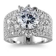 Žene Obilježja prstena Prsten Band Ring Kubični Zirconia , Personalized Luksuz Mértani Jedinstven dizajn Klasik Vještački dijamant