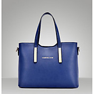 Women Bags All Seasons PU Shoulder Bag for Casual Outdoor Blue Black